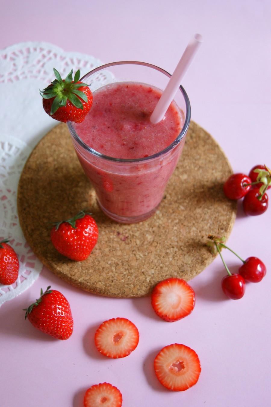 smoothie fraise cerise banane