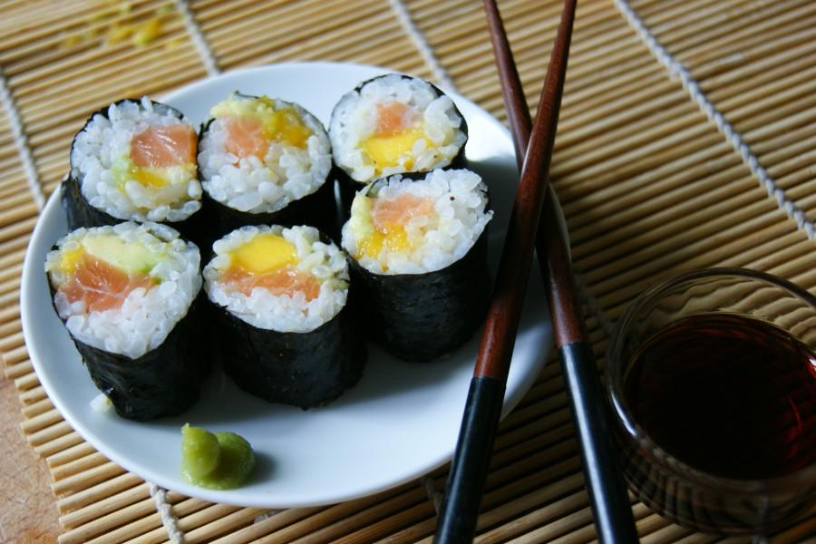 recette makis avocat mangue saumon