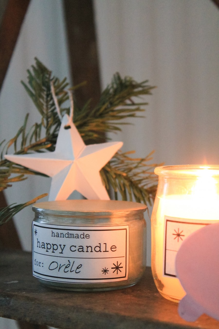 happy candle diy