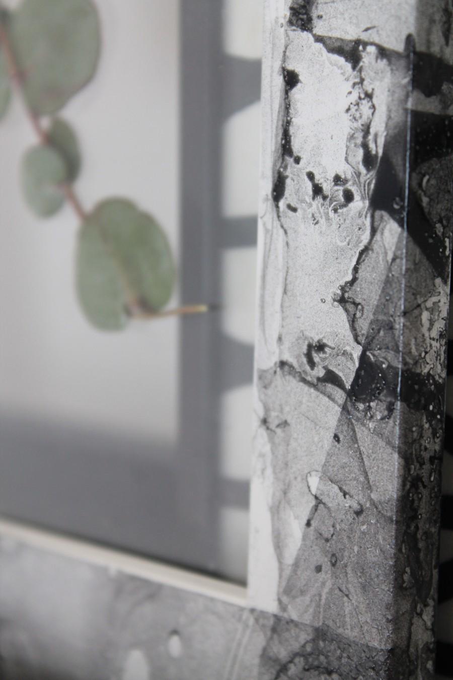 diy cadre effet marbre