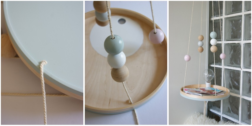 diy table de chevet suspendue lyg. Black Bedroom Furniture Sets. Home Design Ideas