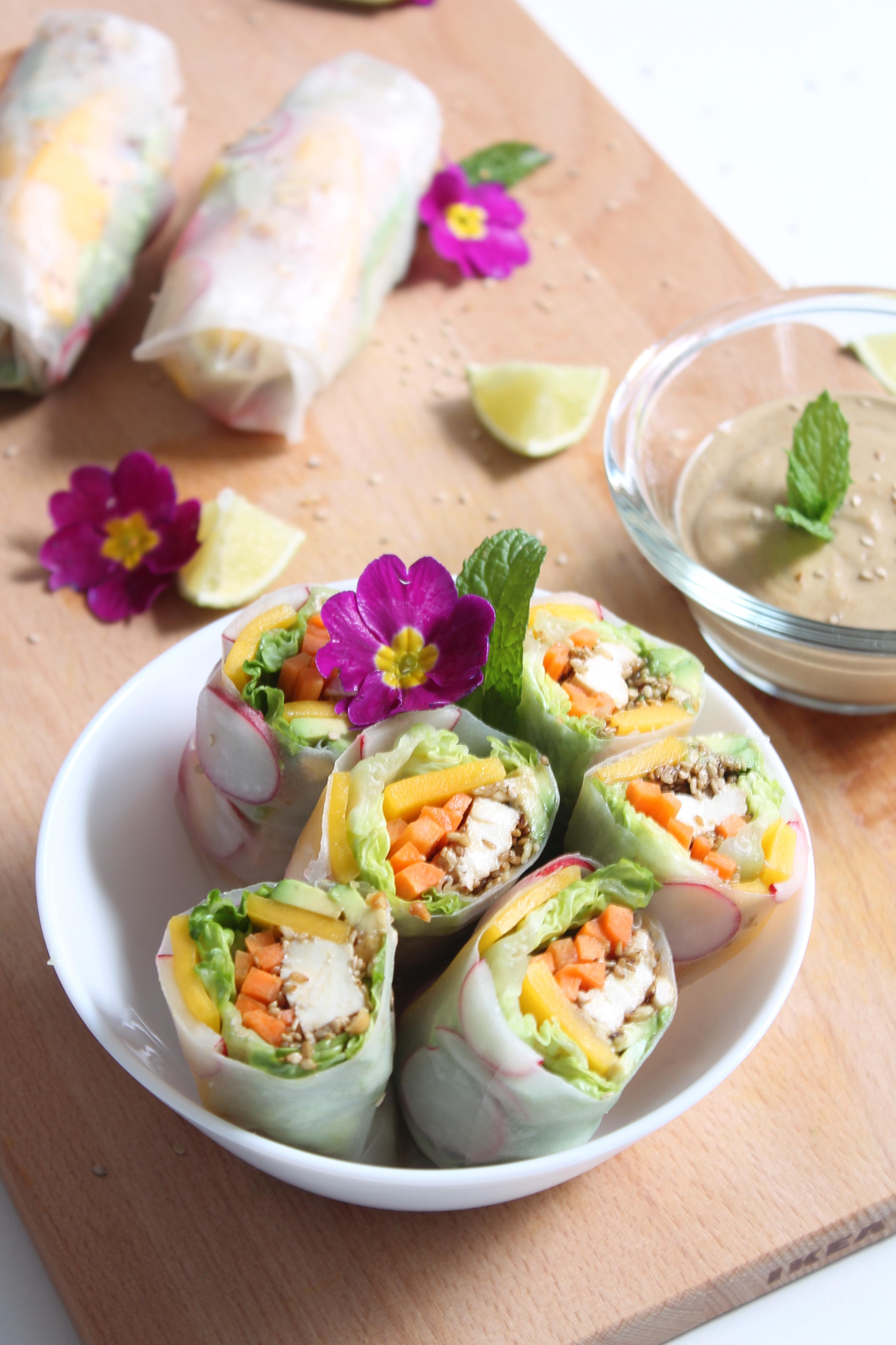 veggie spring rolls recette