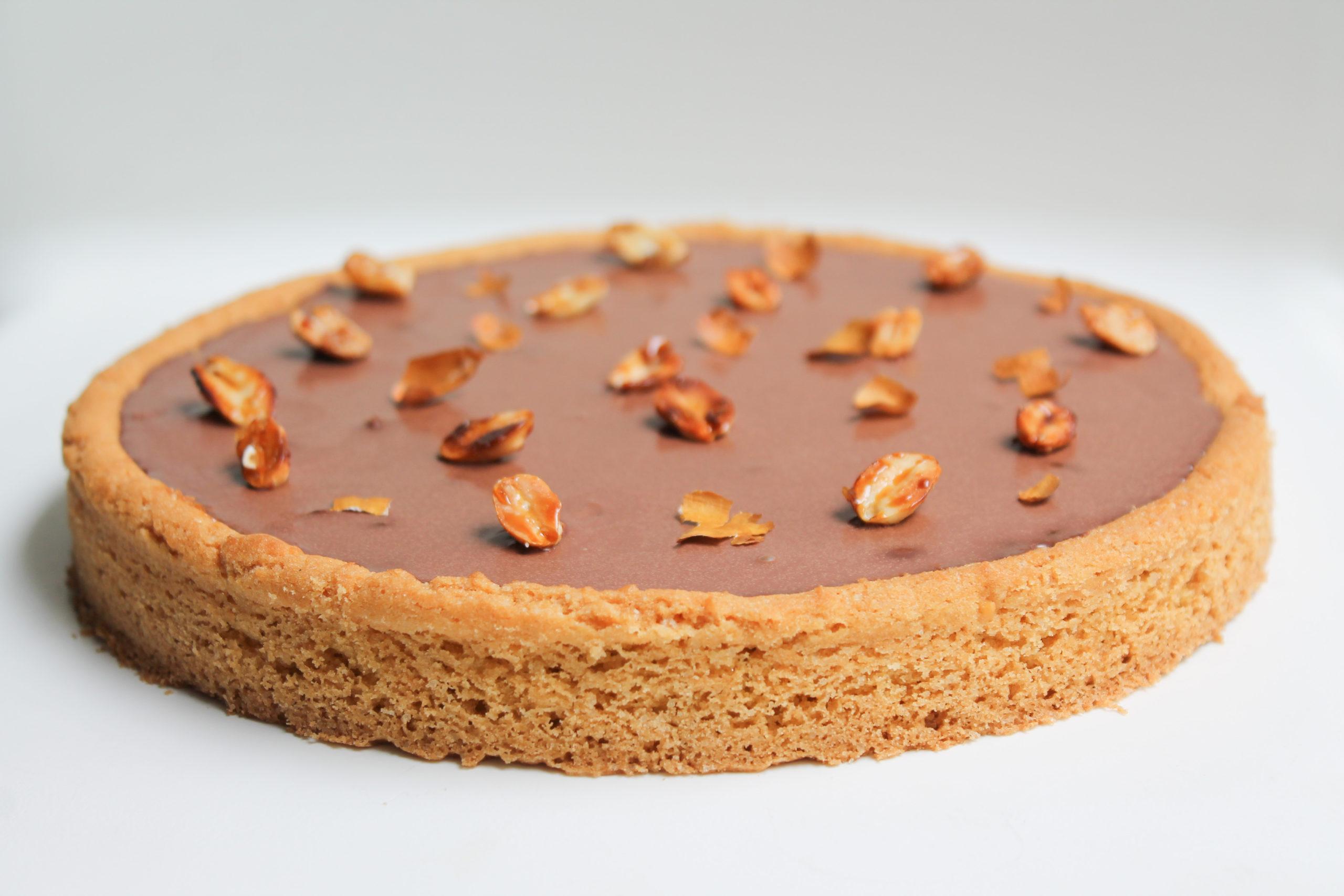 recette tarte chocolat cacahuète