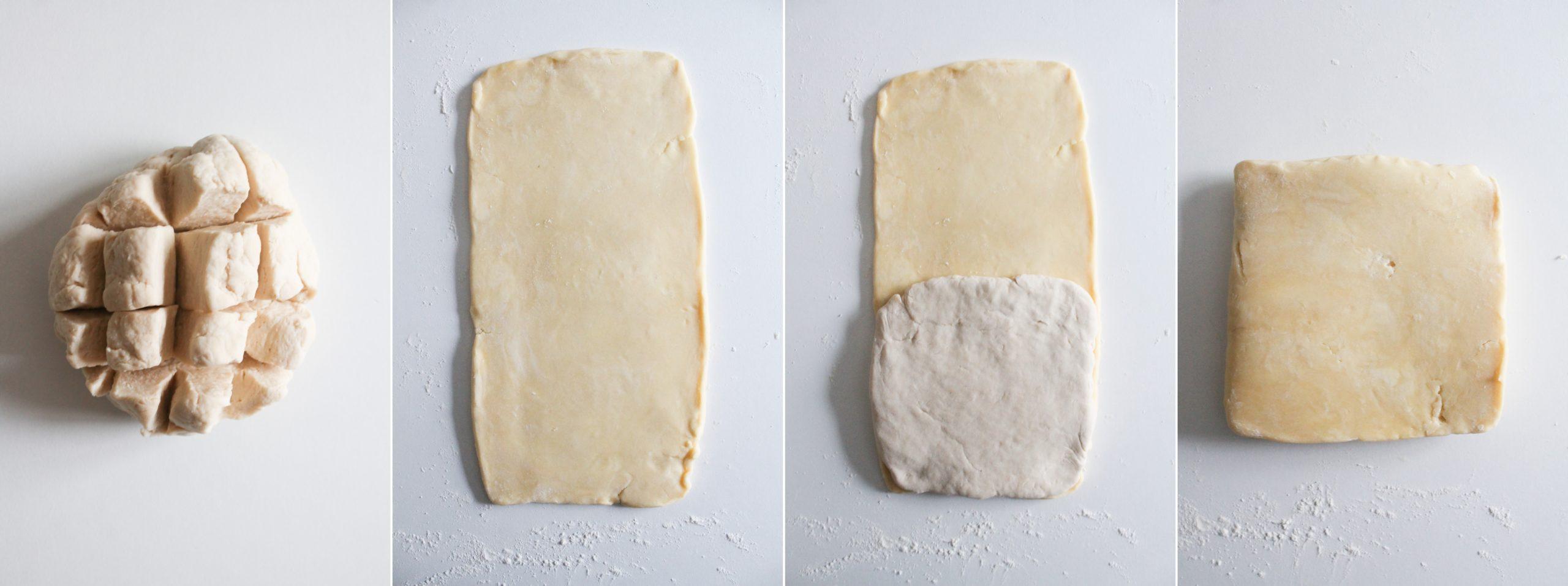 etape 1 pâte feuilletée inversée